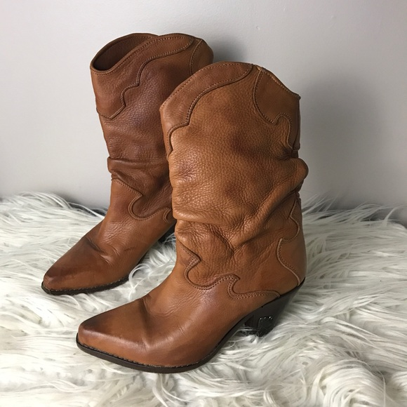 14cb63b2ced Zodiac vintage leather brown cowboy boots 6.5